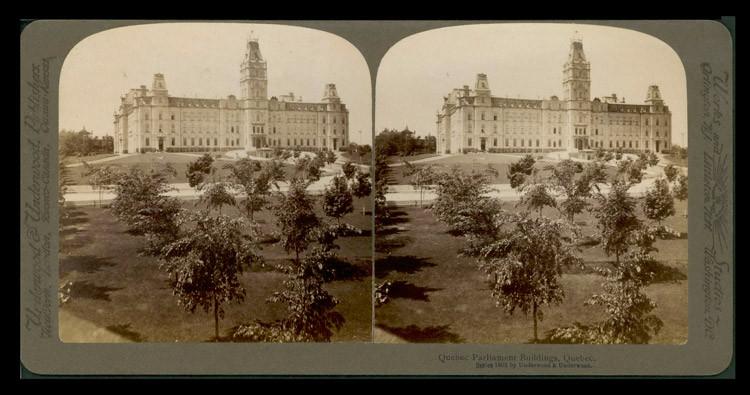 Le parlement et le champ de sylviculture, vers 1900.