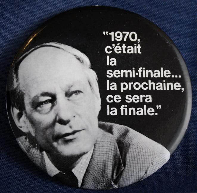 Macaron du Parti québécois - Élection 1973.