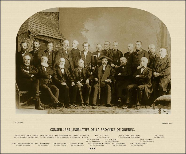 Conseillers législatifs de la province de Québec, 1883.