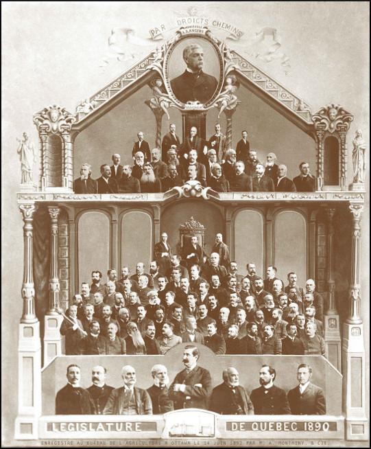 Mosaïque des parlementaires de 1890.