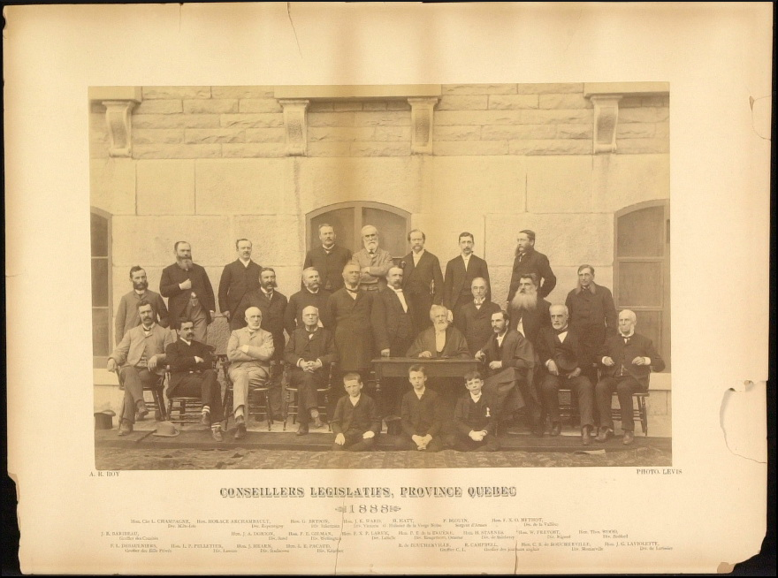 Conseillers législatifs de la province de Québec, 1888.