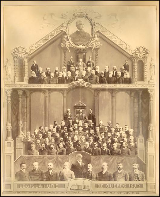 Mosaïque des parlementaires de 1892.
