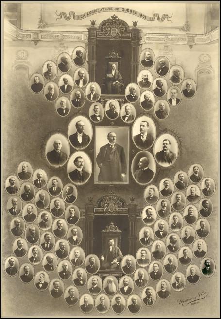 Mosaïque des parlementaires de 1901.