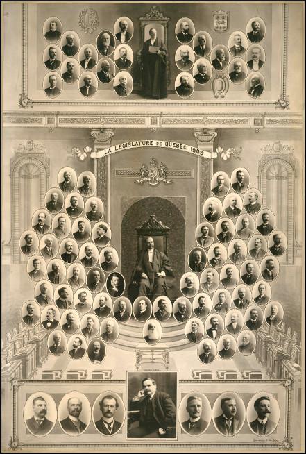 Mosaïque des parlementaires de 1905.
