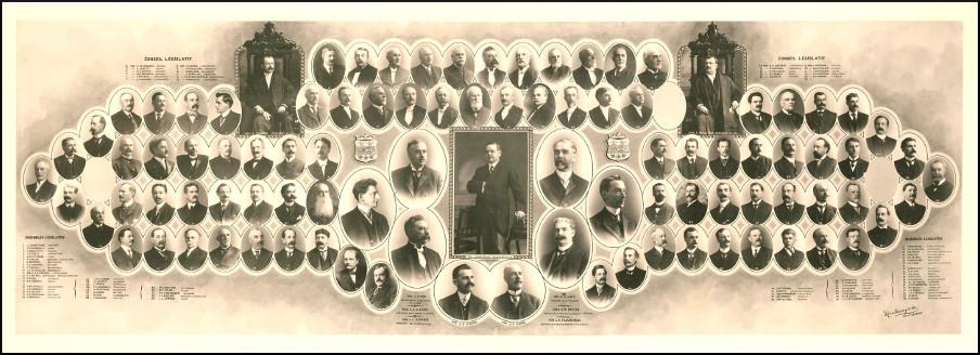 Mosaïque des parlementaires de 1909.