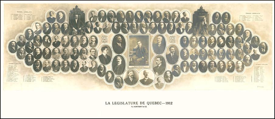 Mosaïque des parlementaires de 1912.