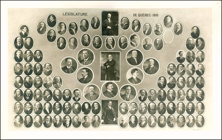Mosaïque des parlementaires de 1916.