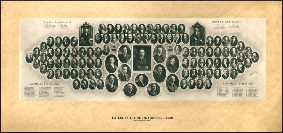 Mosaïque des parlementaires de 1920.