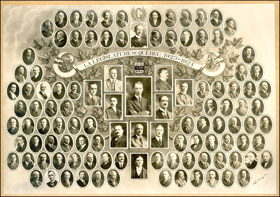 Mosaïque des parlementaires de 1923.