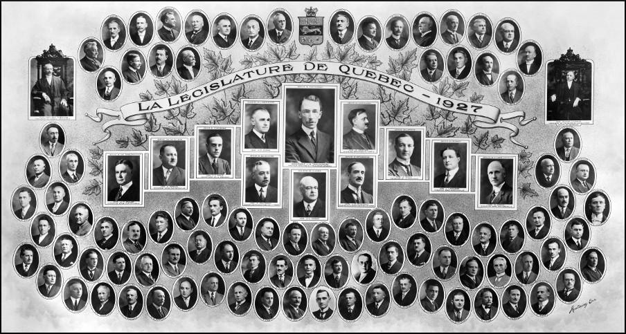 Mosaïque des parlementaires de 1927.
