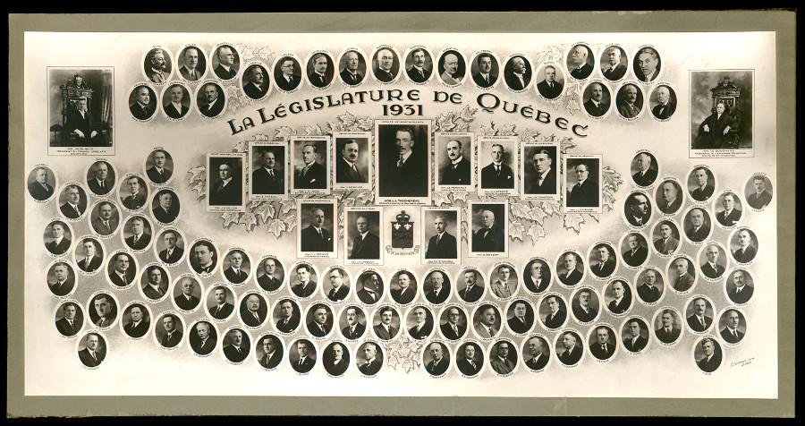 Mosaïque des parlementaires de 1931.