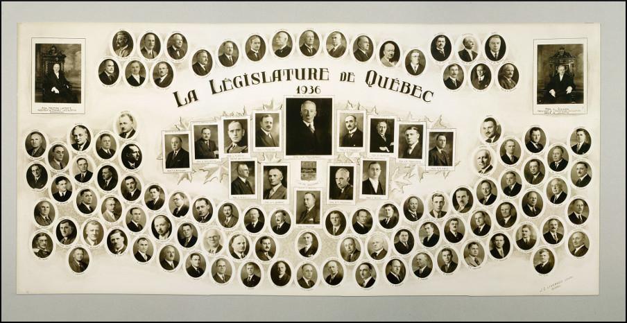 Mosaïque des parlementaires de 1936.