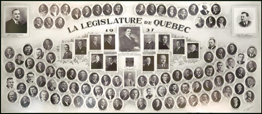 Mosaïque des parlementaires de 1937.