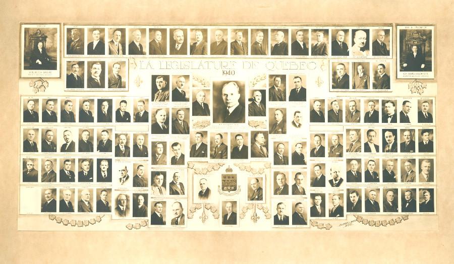Mosaïque des parlementaires de 1940.