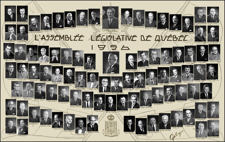 Mosaïque des parlementaires de 1956.