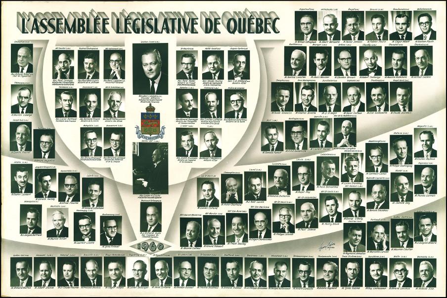 Mosaïque des parlementaires de 1960.