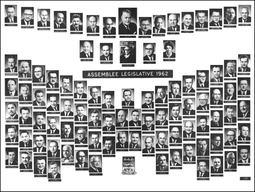 Mosaïque des parlementaires de 1962.