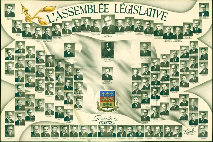 Mosaïque des parlementaires de 1966.