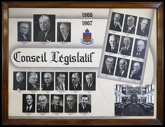 Mosaïque des conseillers législatifs de 1966-1967.