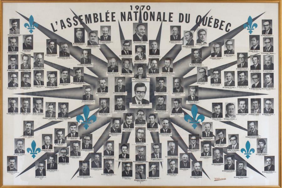 Mosaïque des parlementaires de 1970.