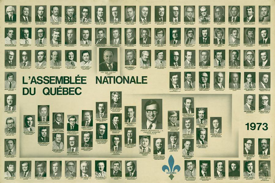 Mosaïque des parlementaires de 1973.