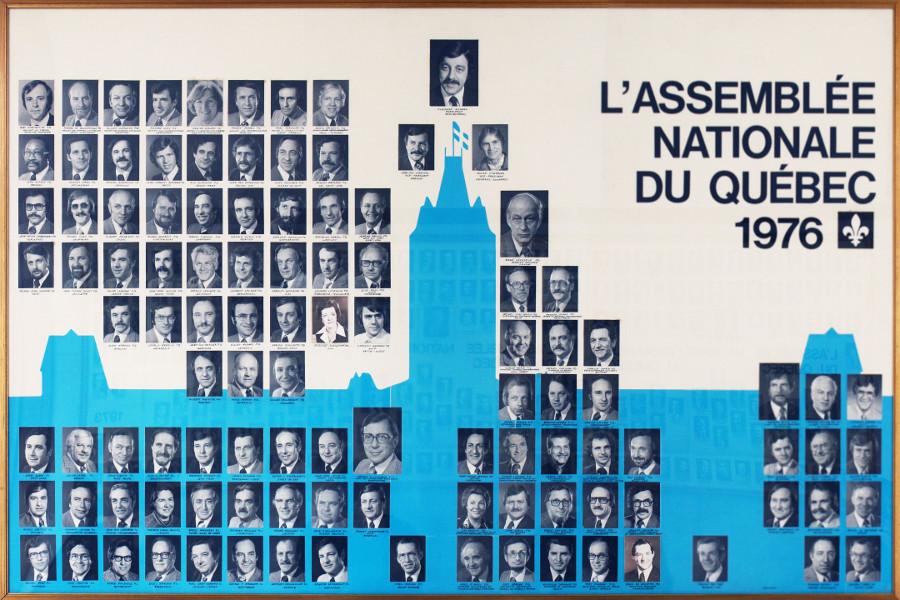 Mosaïque des parlementaires de 1976.