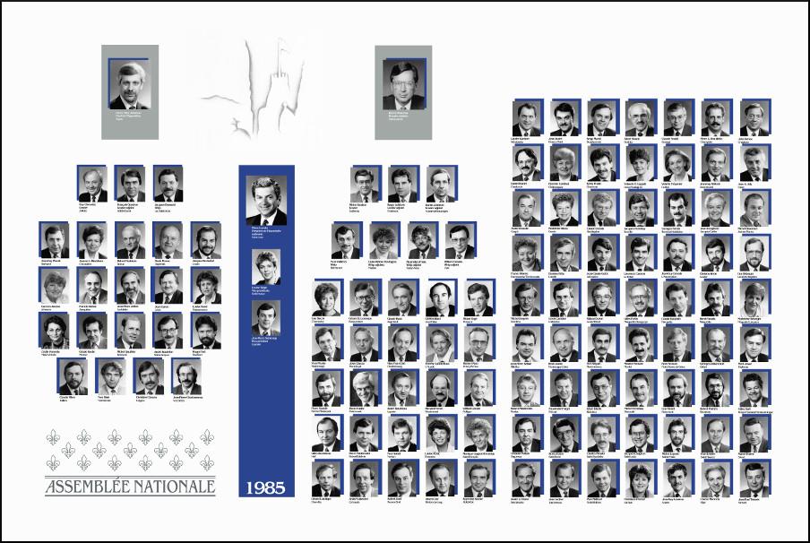 Mosaïque des parlementaires de 1985.
