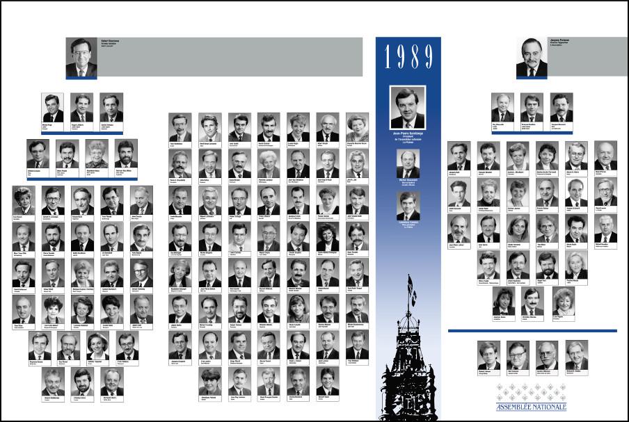 Mosaïque des parlementaires de 1989.