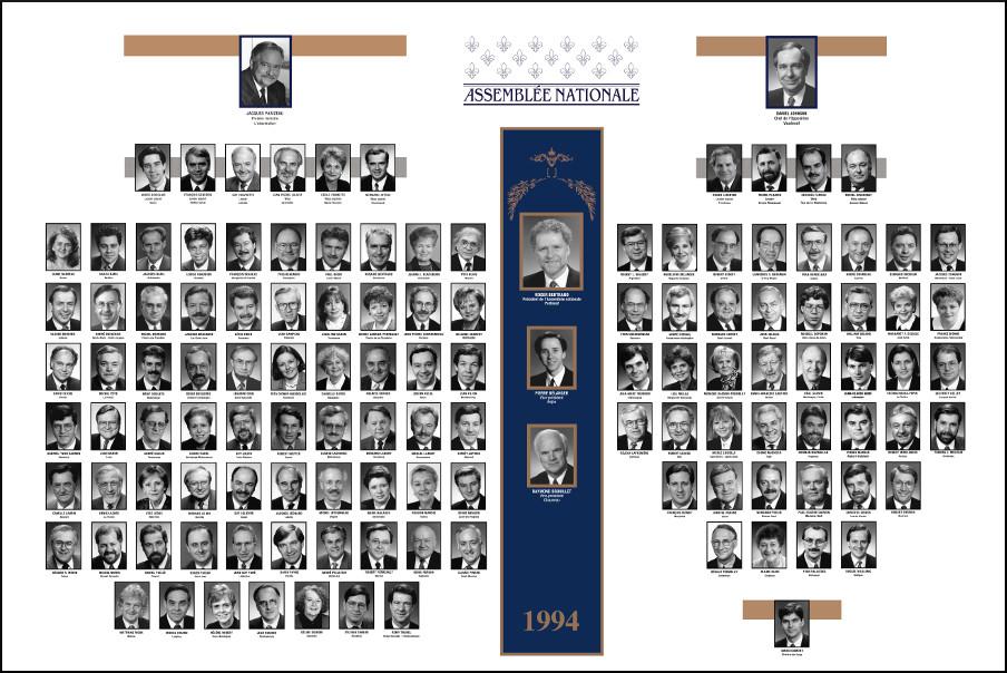 Mosaïque des parlementaires de 1994.