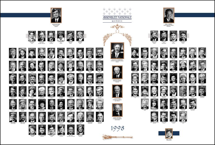 Mosaïque des parlementaires de 1998.