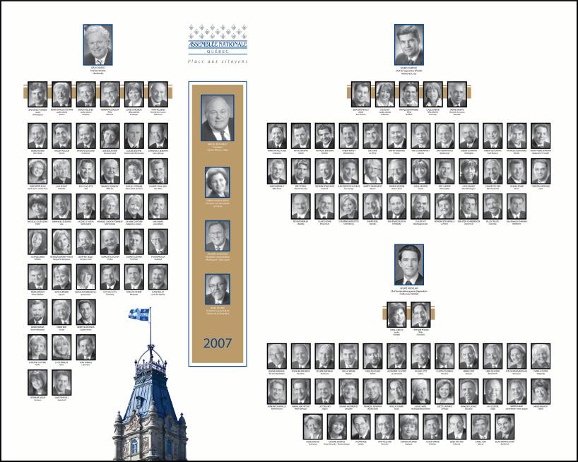 Mosaïque des parlementaires de 2007.