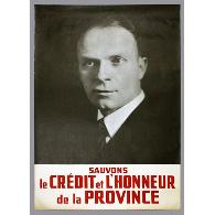 Affiche promotionnelle d'Adélard Godbout, 1939